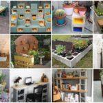 รวมไอเดียตกแต่งสวน จากคอนกรีตบล็อก 41 แบบ ทำง่ายๆสไตล์ DIY สร้างสวนสวย พร้อมฟังก์ชันการใช้งานเพิ่มเติม