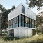 บ้านตากอากาศสไตล์โมเดิร์น รูปทรงกล่องดีไซน์โดดเด่น พร้อมสระว่ายน้ำ และงานโครงสร้างเหล็ก ไว้ภายในบ้าน