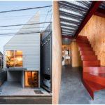 บ้านขนาดเล็ก ออกแบบให้เป็นทาวน์โฮม สไตล์โมเดิร์น ตกแต่งสวยงามด้วยงานไม้ แบบมินิมอล