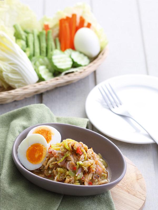 sajor-caju-mushroom-chili-dipping-paste-with-half-boiled-egg-recipe