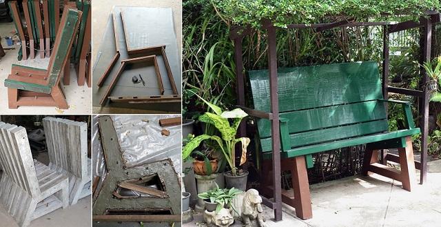 concrete-bench-in-garden-diy-cover