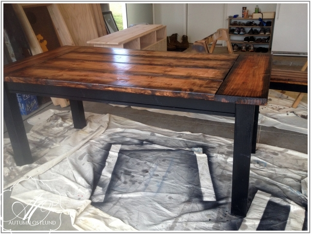 Fascinating Easy Diy Straight Leg Farmhouse Teak Wood Table Repainting Ideas Diy Farmhouse Ideas - Inspiring Home Design Ideas