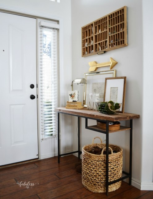 ikea-desk-turned-into-a-farmhouse-style-rough-console-table-that-could-fit-any-entryway-well
