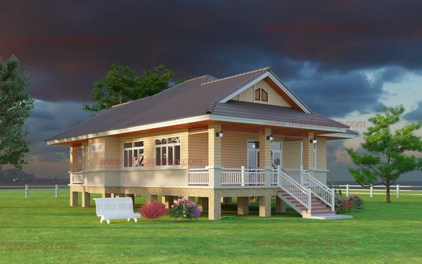 1-storey-thai-contemporary-classic-house-3
