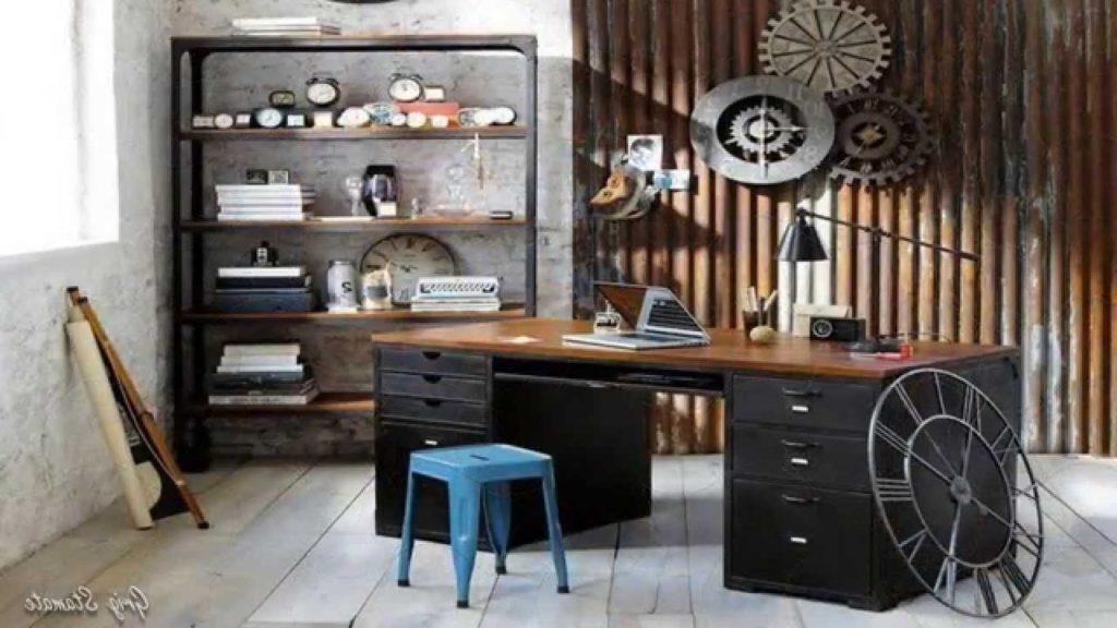 Fancy Industrial Home Office Design Ideas Youtube with industrial home office intended for Property - Design Decor