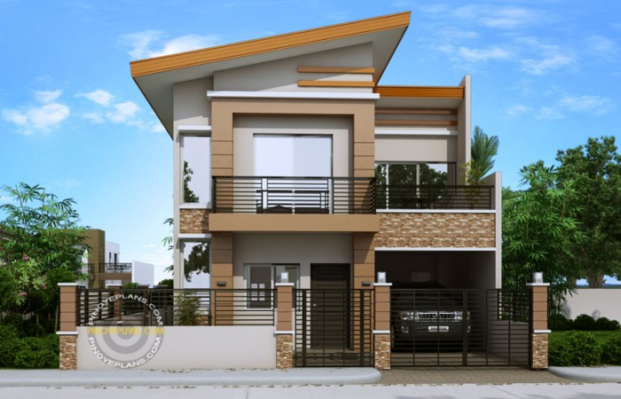 2-storey-modern-house-with-sandstone-decoration-for-narrow-land-1