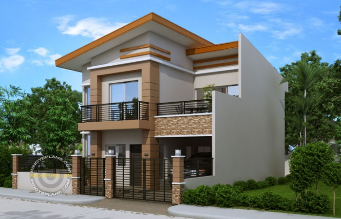 2-storey-modern-house-with-sandstone-decoration-for-narrow-land-2