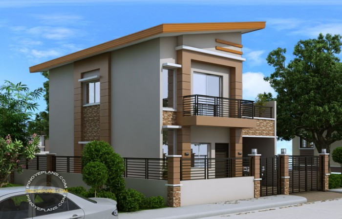 2-storey-modern-house-with-sandstone-decoration-for-narrow-land-3