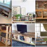 32 ชั้นหนังสือทำมือ DIY จากงานไม้ สร้างพื้นที่พักผ่อน ร่วมกับตู้เตี้ย เล็กๆ สวยงาม น่ารัก