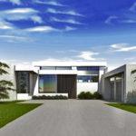 บ้านโมเดิร์นโทนสีขาว 4 ห้องนอน พร้อมพื้นที่พักผ่อนขนาดใหญ่กลางบ้าน