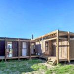 บ้านไม้เคบิน ออกแบบแปลนเรียบง่าย สมัยใหม่ หลังเล็กๆกะทัดรัด รองรับการพักผ่อนแบบบ้านสวน บ้านตากอากาศ