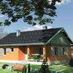 บ้านสวนโทนสีส้ม ดีไซน์ 2 ห้องนอน 1 ห้องน้ำ ไว้ภายใน รับกับครอบครัวเล็กๆ ที่คนไทยต้องการไม่น้อย