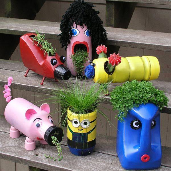 diy-super-cute-planters-from-plastic-bottles