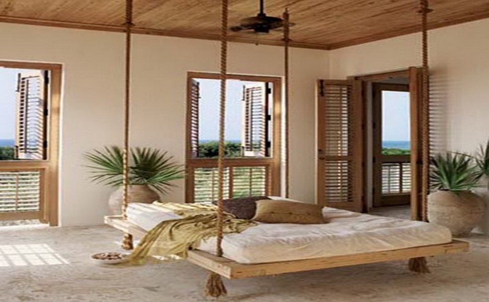 marvelous-wooden-bed-design-with-flat-shape-and-hanged-with-4-unique-rope-design