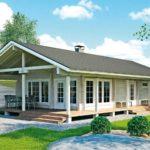 แบบบ้านไม้ยกพื้นสไตล์คันทรี่ 2 ห้องนอน 1 ห้องน้ำ เปิดรับบรรยากาศที่สดใสของชนบท