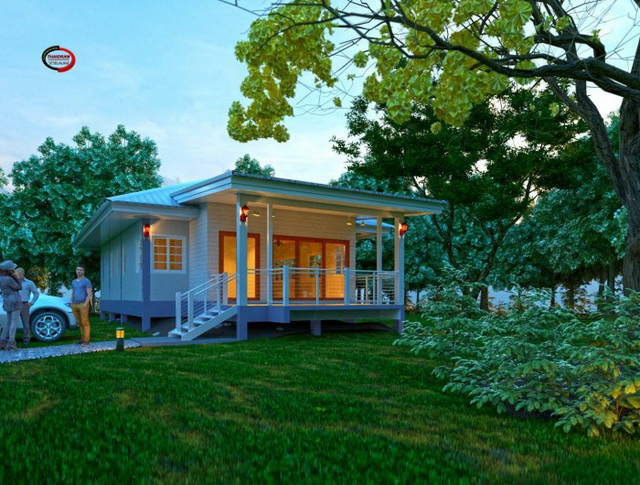 1 storey modern english house for small family (1)