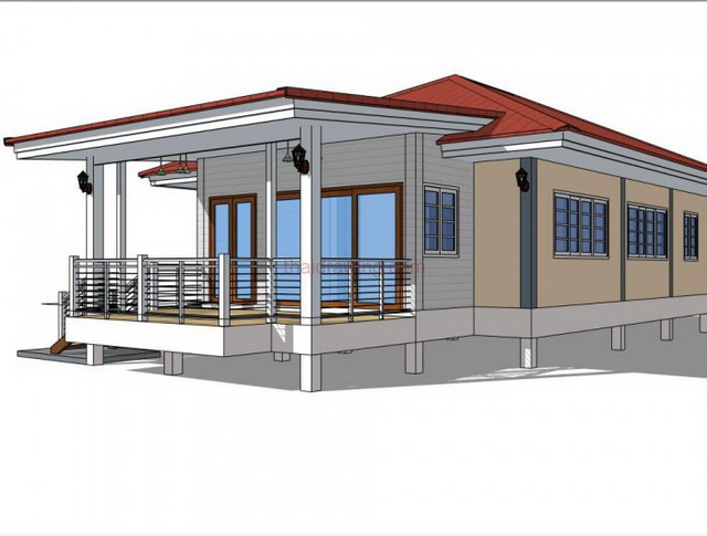 1 storey modern english house for small family (12)
