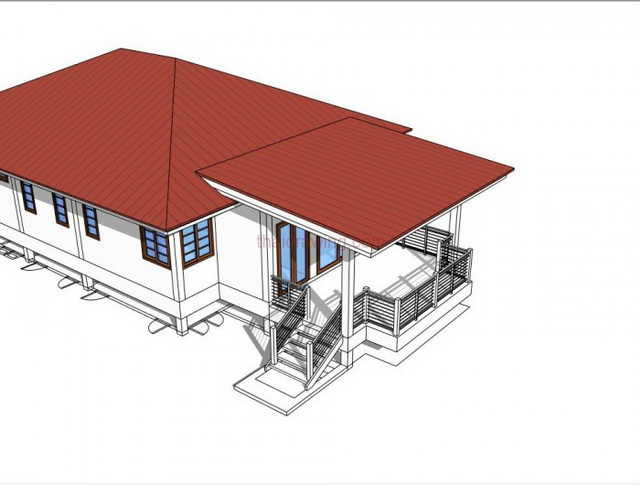 1 storey modern english house for small family (6)