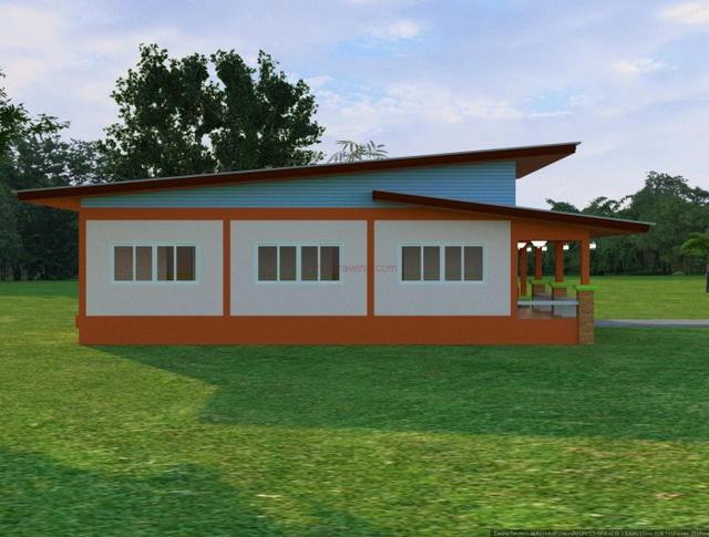 3 bedroom 2 bathroom 1 storey modern house for rural thailand (3)