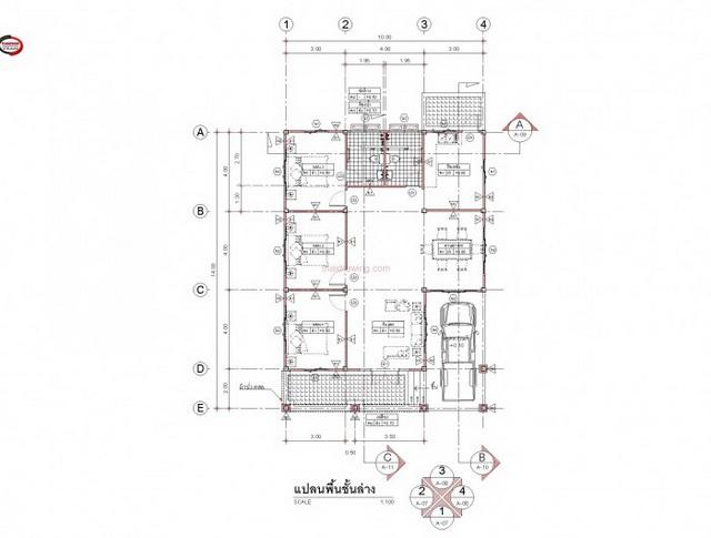 3 bedroom 2 bathroom 1 storey modern house for rural thailand (4)