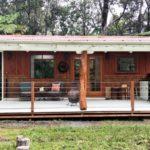 บ้านตากอากาศขนาดเล็ก บ้านไม้สไตล์รัสติค 1 ห้องนอนขนาดเล็ก 1 ห้องน้ำในตัว