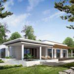 บ้านโมเดิร์นหลังเล็ก 3 ห้องนอนในตัว พร้อมการออกแบบทันสมัย เรียบง่าย รับกับบ้านสวน บ้านตากอากาศ