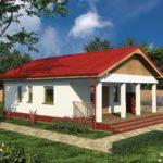 บ้านเดี่ยวหลังเล็ก 2 ห้องนอน หลังคาทรงจั่วเรียบง่าย ออกแบบมาพร้อมชานบ้าน รองรับการใช้งาน ที่คนไทยชื่นชอบ
