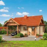 บ้านกระท่อมคอทเทจ หลังเล็ก 1 ห้องนอน 1 ห้องน้ำ พร้อมโถงพักผ่อนขนาดใหญ่กลางบ้าน