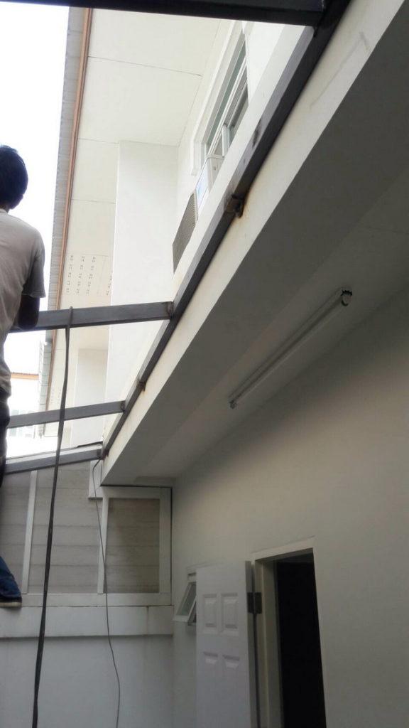 backyard townhome loft kitchen renovation (7)
