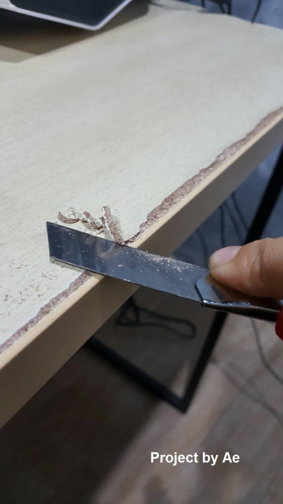 how to fix soaked wood table diy (4)