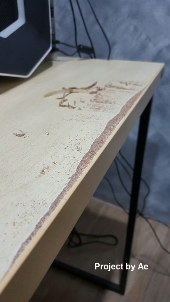how to fix soaked wood table diy (5)