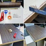 """ไม่ต้องซื้อใหม่!! มาดู วิธีแก้ไขปัญหา """"โต๊ะไม้อัดพองตัว"""" ด้วยวิธีที่แสนง่าย แถมใช้งบแค่นิดเดียว"""