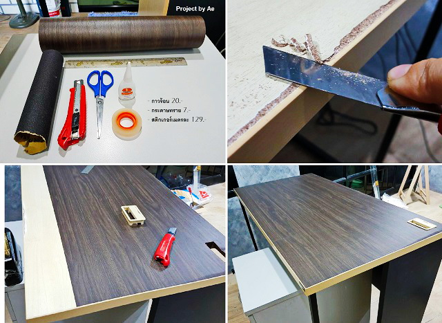 how to fix soaked wood table diy cover