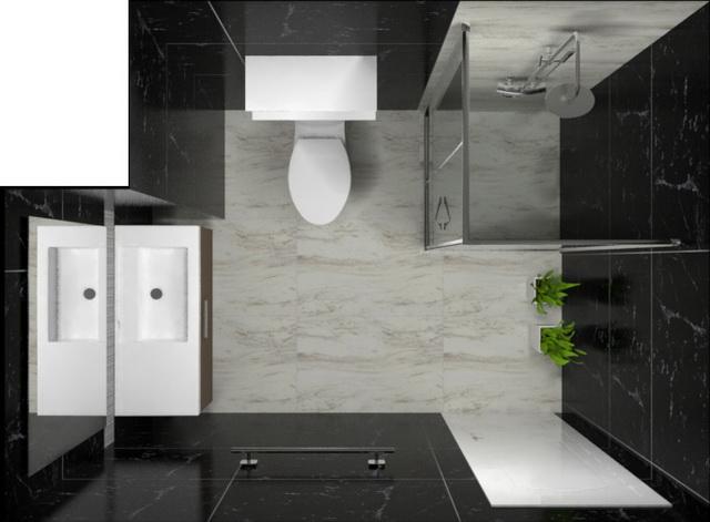 monotone bathroom condo renovation (10)