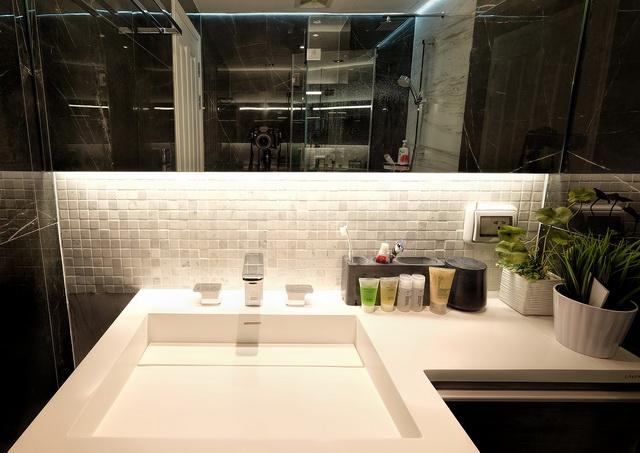 monotone bathroom condo renovation (36)
