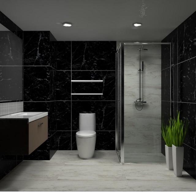 monotone bathroom condo renovation (8)