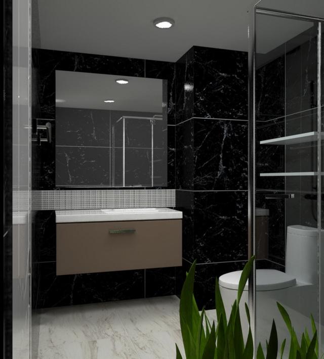 monotone bathroom condo renovation (9)