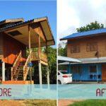 แบ่งปันไอเดีย!! รีโนเวทบ้านครึ่งไม้ครึ่งปูนสุดหมอง ให้ทันสมัยน่าอยู่ พร้อมสำหรับการเริ่มต้นชีวิตครอบครัว