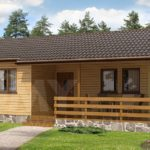 บ้านไม้ชั้นเดียวขนาดกะทัดรัด 1 ห้องนอน 1 ห้องน้ำ ดีไซน์เรียบง่าย กลิ่นอายบ้านสวนชนบท