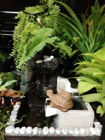 small waterfall garden condo patio (10)