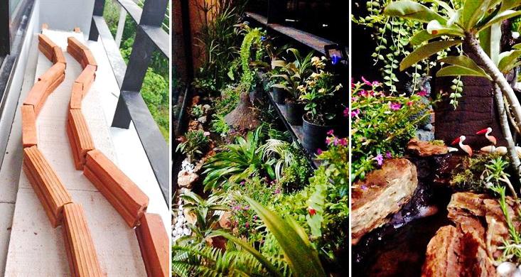 small-waterfall-garden-condo-patio cover