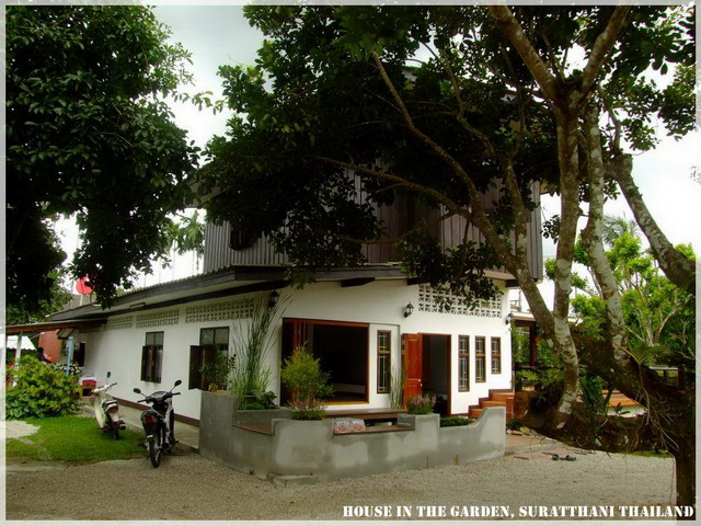 thai country half wood half concrete house review (7)
