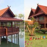 บ้านไม้สไตล์ไทยร่วมสมัย เสน่ห์แบบดั้งเดิม มาพร้อมใต้ถุนโปร่งและศาลากลางน้ำสุดชิลล์