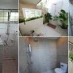 """รีโนเวทห้องน้ำเก่าอายุ 10 ปี กลายเป็น """"ห้องน้ำสไตล์รีสอร์ท"""" พร้อมที่อาบน้ำกลางแจ้งแสนรื่นรมย์"""