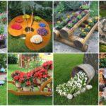 อัพเดท!! 30 ไอเดียจัดสวน ตกแต่งด้วยแปลงดอกไม้ กระถางดอกไม้ขนาดเล็ก ในรูปแบบ DIY จากของเหลือใช้
