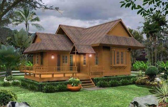2 bedroom wood resort house plan1