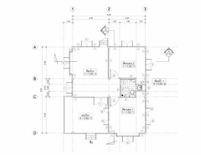 2 bedroom wood resort house plan2