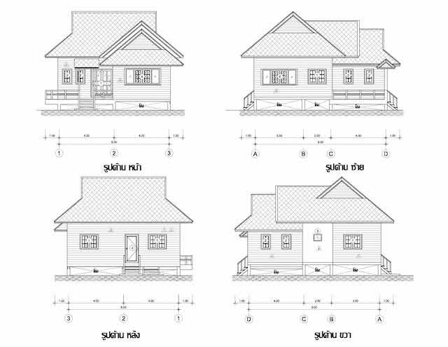 2 bedroom wood resort house plan4