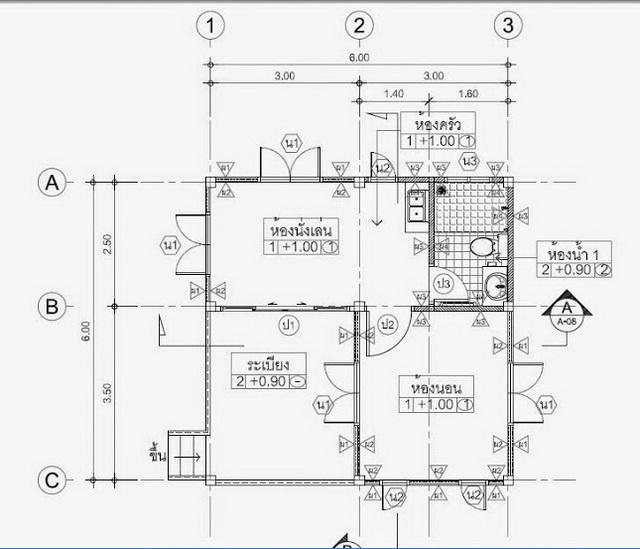 300k small thai contemporary house plan (6)
