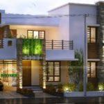 บ้านสองชั้นหลังใหญ่ ดีไซน์แบบโมเดิร์น เล่นมิติผนังสวยงาม รองรับการเลือกที่อยู่อาศัยภูมิฐาน